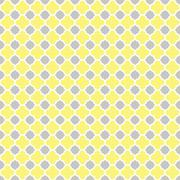 Stock Illustration of Yellow Grey Gray Quatrefoil Seamless Pattern
