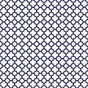 White Navy Blue Quatrefoil Background Pattern Stock Illustration