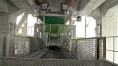 A shaking conveyor machine Stock Footage