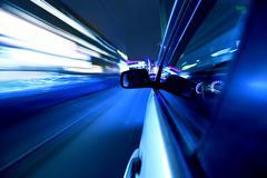 Night car drive Stock Photos
