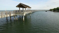 Bellingham Boulevard Park Pier Stock Footage
