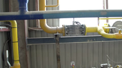 Set of gas pipes in the area Stock Footage