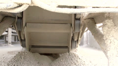 small pulleys serves as wheels on a conveyor - stock footage