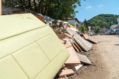 flood in 2014 maglaj - bosnia and herzegovina - stock photo