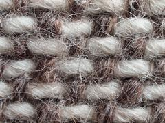 Beige-brown woven fabric 7 - stock photo