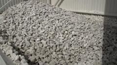 Hundreds of limestones in a splinter Stock Footage