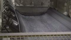 A conveyor belt running Stock Footage