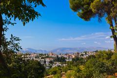 Alhambra palace at Granada Spain - stock photo