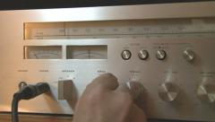Vintage Stereo Amplifier - stock footage
