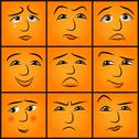 Stock Illustration of cartoon emotions set