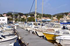 Port of Le Pradet in France - stock photo