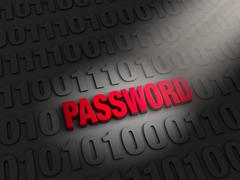 Stock Illustration of finding a password in the data