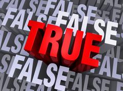 What is true rises above what is false Stock Illustration