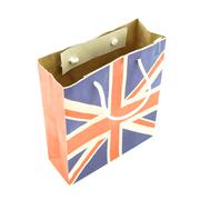 Paper bag striped england flag used empty Stock Photos