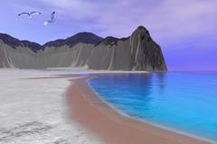 simone beach - stock illustration