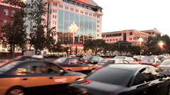 POV on Dong Changan Jie Tiananmen Square to the Left - stock footage