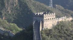 The Great Wall of China at Badaling Stock Footage