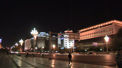 Nightview of Chang'an Jie Stock Footage