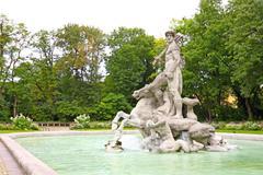 Neptune sculpture Stock Photos