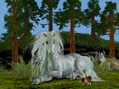 magic woodland - stock illustration