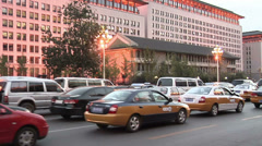 POV early Evening along Dong Chang'an Jie - stock footage