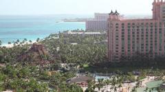 Bahamas Atlantis resort Mayan temple 1 - stock footage