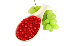 Grape and red currant - stock photo
