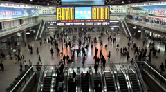 Departure Hall of the Beijing West Railway Station Stock Footage