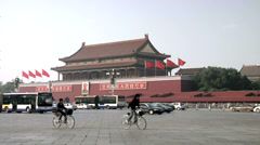 Afternoon Traffic passing Tian'anmen Gate Stock Footage
