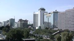 Elevated View of Modern Buildings along Dong Chan'an Jie Stock Footage
