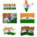 Indian flag collage Stock Illustration