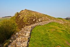 Hadrian's wall - stock photo