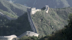 The Great Wall of China at Badaling Stock Footage