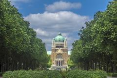 basilica sacred heart parc elisabeth brussels belgium - stock photo