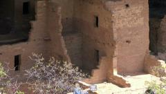 Mesa Verde Spruce Tree House Indian cliff house zoom HD 070 Stock Footage