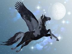 Pegasus flight Stock Illustration