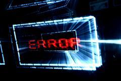 main menu error - stock photo