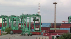 The Container Port at Northern Part of Shanghai. Stock Footage