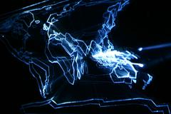 abstract map glow - stock illustration