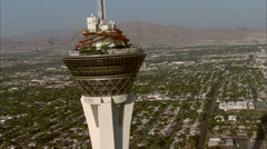Stock Video Footage of Las Vegas View Stratosphere