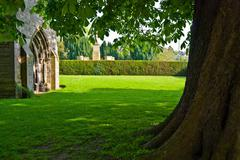 Kelso Abbey Stock Photos