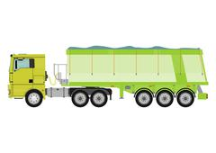 Dumb truck - stock illustration