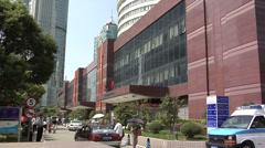The Exterior of the Shanghai East International Medical Center in Pudong - stock footage