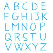 Handwritten alphabet letters Stock Photos