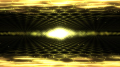 Sideways Travel Light Animation - Loop Yellow - stock footage