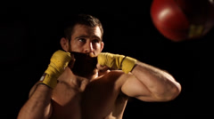 Boxing close up Stock Footage