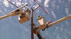 Electric Line Workers 6 Stock Footage