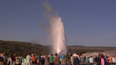 Old Faithful Geysers at Yellow Stone National Park Wyoming Stock Footage