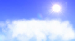 Natural zooming cloud and sun background, cgi effect Stock Footage