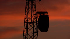 Antenna Post at Sunset in Yellowstone Town in Montana Stock Footage